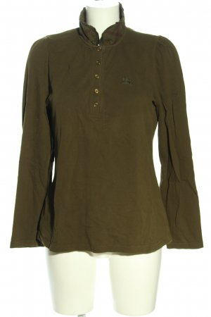 Burberry Brit Rugby Shirt khaki athletic style