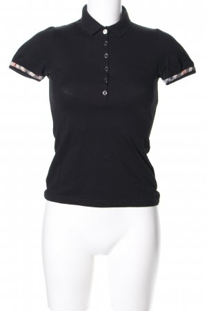 Burberry Brit Polo shirt zwart casual uitstraling