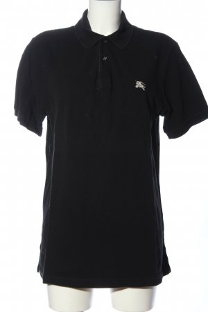 Burberry Brit Polo-Shirt schwarz Schriftzug gedruckt Casual-Look