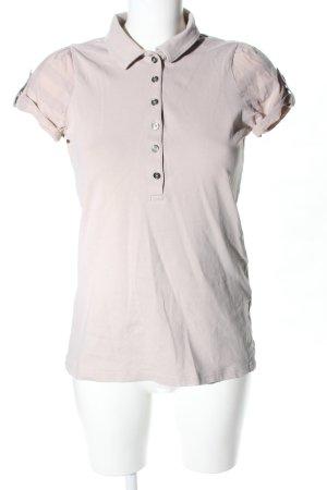 Burberry Brit Camiseta tipo polo blanco puro look casual