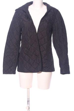 Burberry Brit Gewatteerd jack zwart quilten patroon casual uitstraling