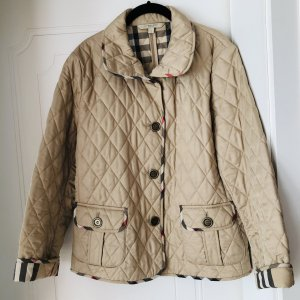 Burberry Brit Quilted Jacket beige cotton