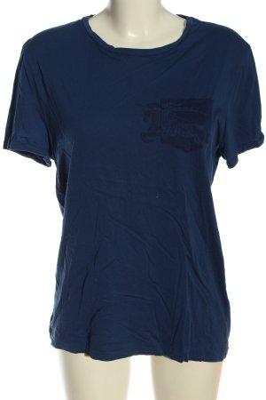 Burberry Brit T-shirt blauw prints met een thema casual uitstraling
