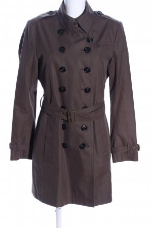 Burberry Brit Trench Coat brown business style