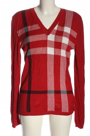 Burberry Brit V-Neck Sweater check pattern casual look