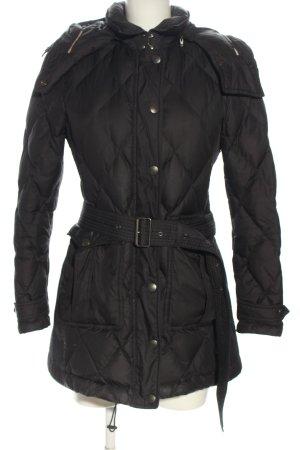 Burberry Brit Giacca invernale grigio chiaro motivo trapuntato stile casual