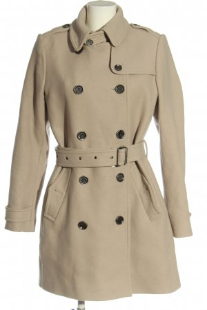 Burberry Brit Wollen jas wolwit casual uitstraling