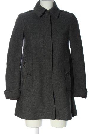 Burberry Brit Wollen jas lichtgrijs gestippeld casual uitstraling