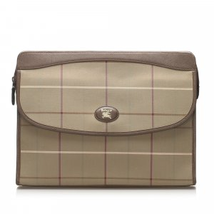 Burberry Canvas Clutch Bag