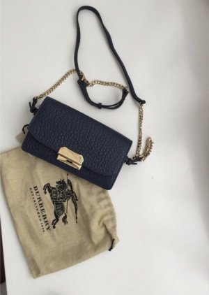 Burberry Clutch dark blue leather