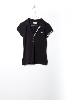Burberry Damen Polo in Schwarz