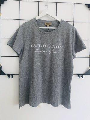 Burberry Damen T-Shirt Shirt Oberteil grau weiß