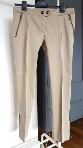 Burberry London Spodnie materiałowe camel-czarny Bawełna