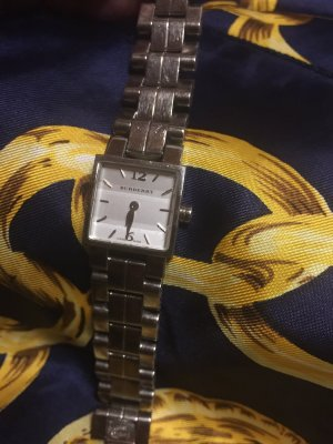 Burberry Watch With Metal Strap silver-colored-natural white