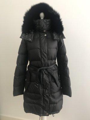 Burberry Pikowany płaszcz czarny