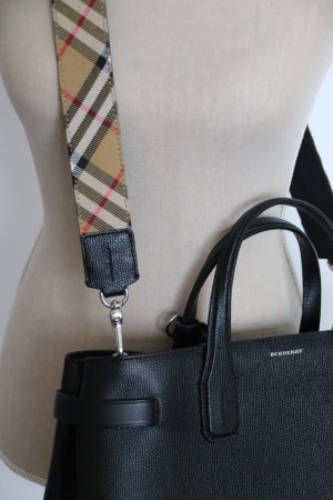 Burberry Derby Leather Smooth Trim Medium Banner Tote
