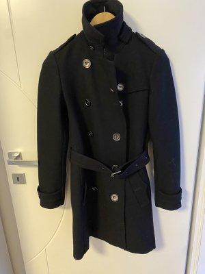 """Burberry """"double breasted"""" Mantel in Schwarz aus Wolle und Kaschmir"""