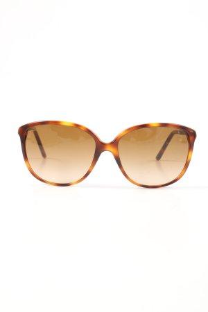 Burberry eckige Sonnenbrille hellorange-braun Casual-Look