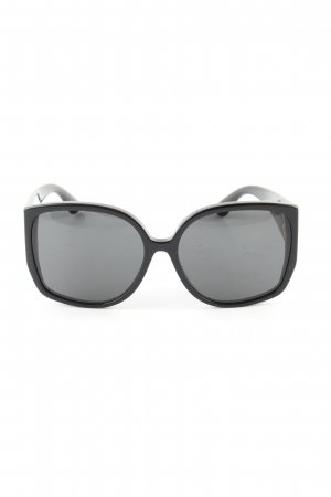 Burberry eckige Sonnenbrille schwarz Business-Look