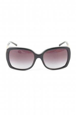 Burberry Angular Shaped Sunglasses black-brown check pattern casual look