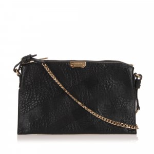 Burberry Embossed Chichester Leather Crossbody Bag