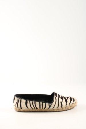Burberry Espadrille sandalen room-zwart dierenprint casual uitstraling