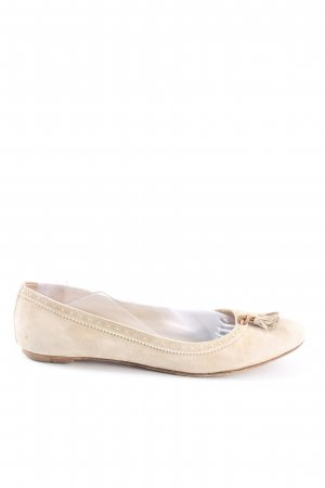 Burberry Foldable Ballet Flats natural white casual look