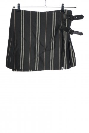 Burberry Plaid Skirt black-light grey striped pattern casual look
