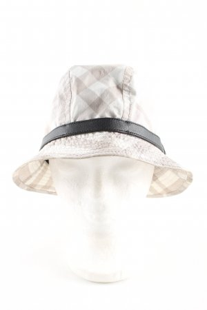 Burberry Bucket Hat light grey-white allover print casual look