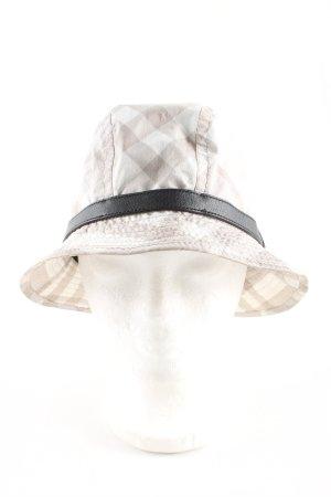 Burberry Bob gris clair-blanc imprimé allover style décontracté