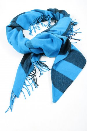 Burberry Fransenschal blau Streifenmuster Casual-Look