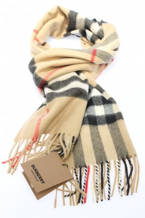 Burberry Bufanda de flecos multicolor look casual
