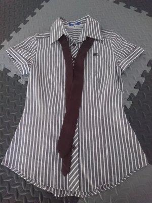Burberry gestreift Hemd-Bluse mit Krawatte