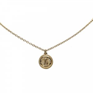 Burberry Collier doré métal