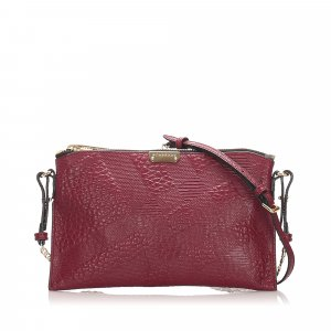 Burberry Grain Check Peyton Crossbody Bag