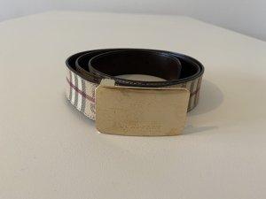 Burberry Cinturón de cuero multicolor Cuero