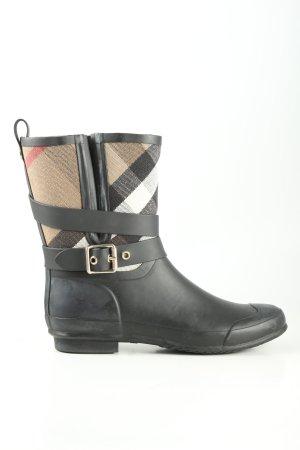 Burberry Wellington laarzen geruite print casual uitstraling