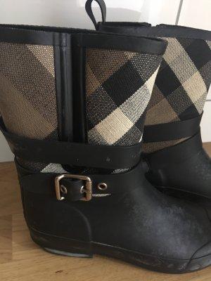Burberry Wellington laarzen zwart-bruin