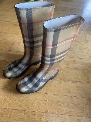 Burberry Wellington laarzen lichtbruin Polyurethaan