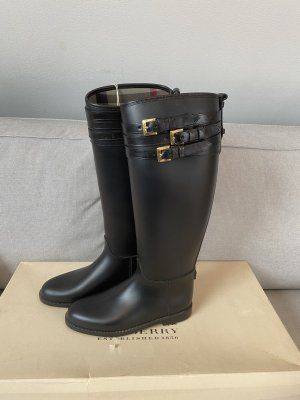 Burberry Wellies black-gold-colored