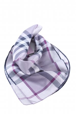 Burberry Neckerchief blue-lilac check pattern casual look