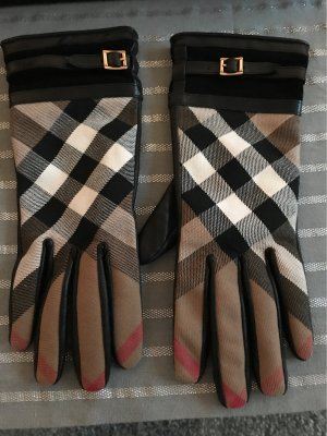 Burberry Leather Gloves black leather