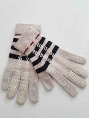 Burberry Gloves natural white wool (merino wool)