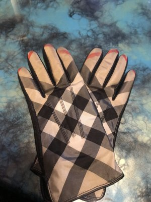 Burberry Gants en cuir multicolore