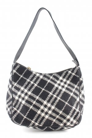 Burberry Bolso negro-blanco estampado a cuadros look casual
