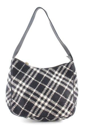 Burberry Handtasche schwarz-weiß Karomuster Casual-Look