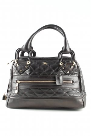 Burberry Handbag black quilting pattern business style