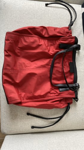Burberry Sac hobo rouge brique