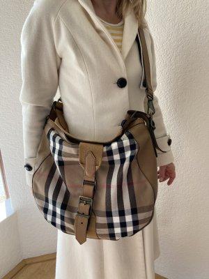 BURBERRY Handtasche / Schultertasche mit zusätzlich abnehmbarem Leder-Schultergurt