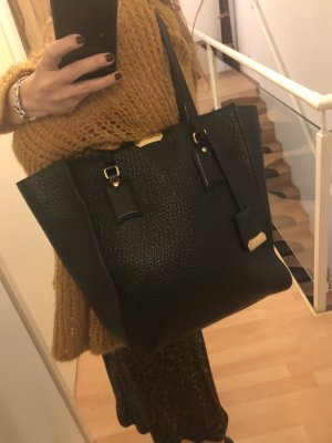 Burberry Shopper black-gold-colored leather